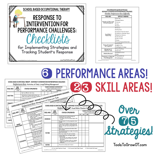 RTI Data Collection Checklists for Implementing Strategies and Tracking Student's Response