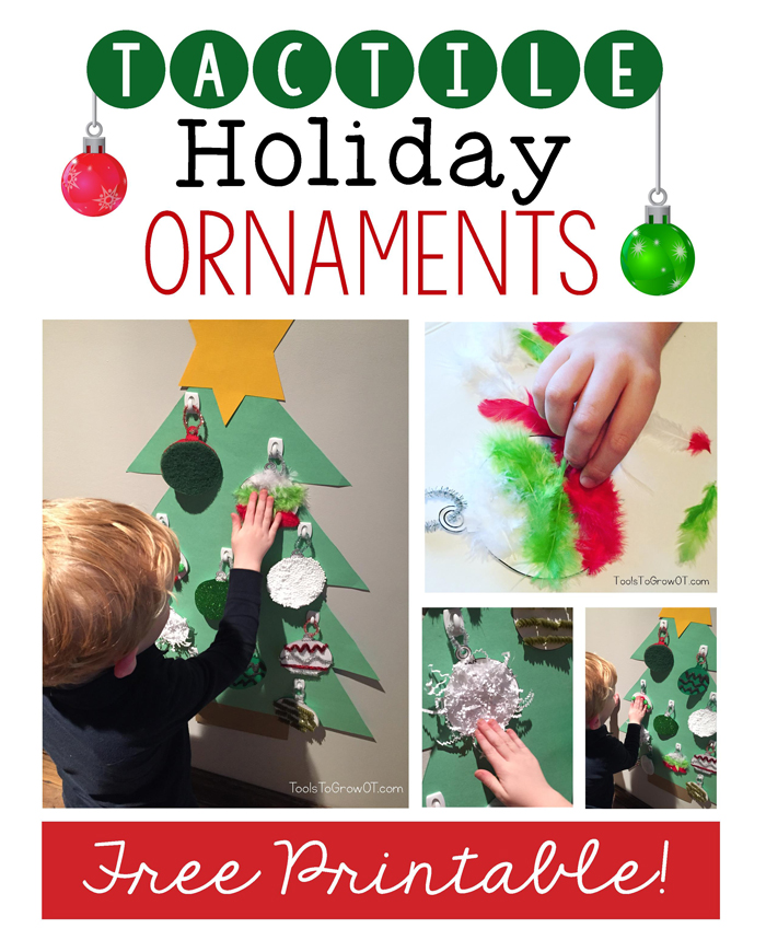 Tactile Ornaments - Sensory Holiday and Christmas fun for kids!