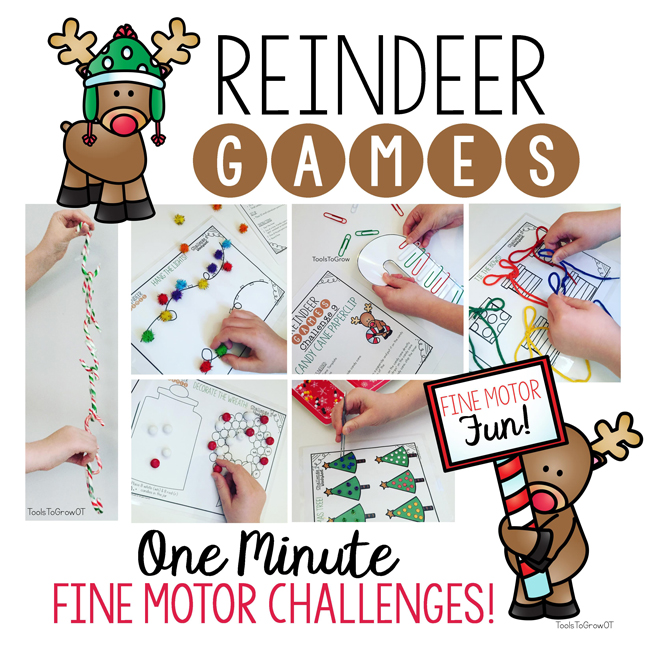 Reindeer Fine Motor Games