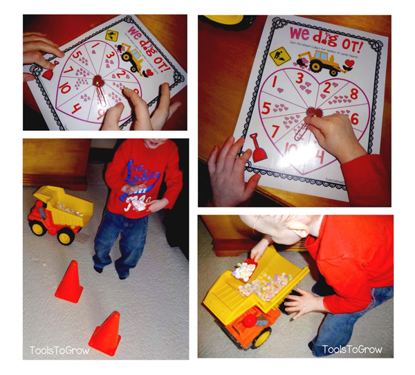 Fine Motor Game - We DIG Valentine's Day! Tools to Grow