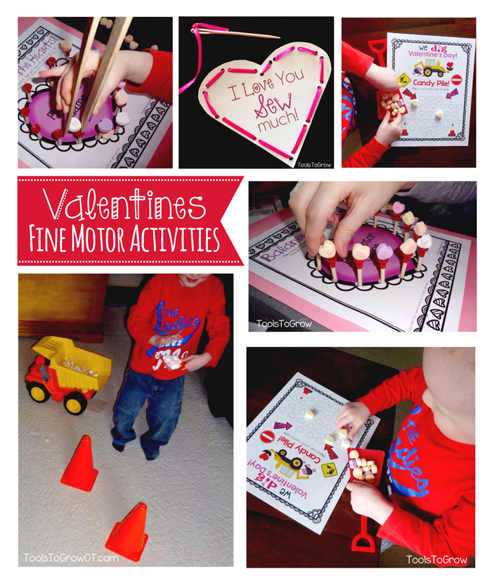 Valentine's Day Fine Motor Activities and Games from Tools to Grow