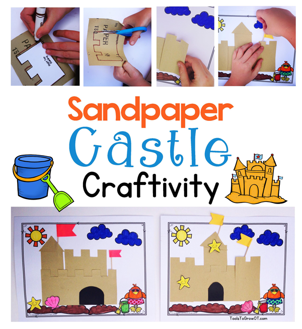 Sandpaper Castle Craftivity