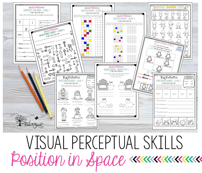VISUAL PERCEPTION:Spatial Relations & Position in Space activities, ideas, and resources