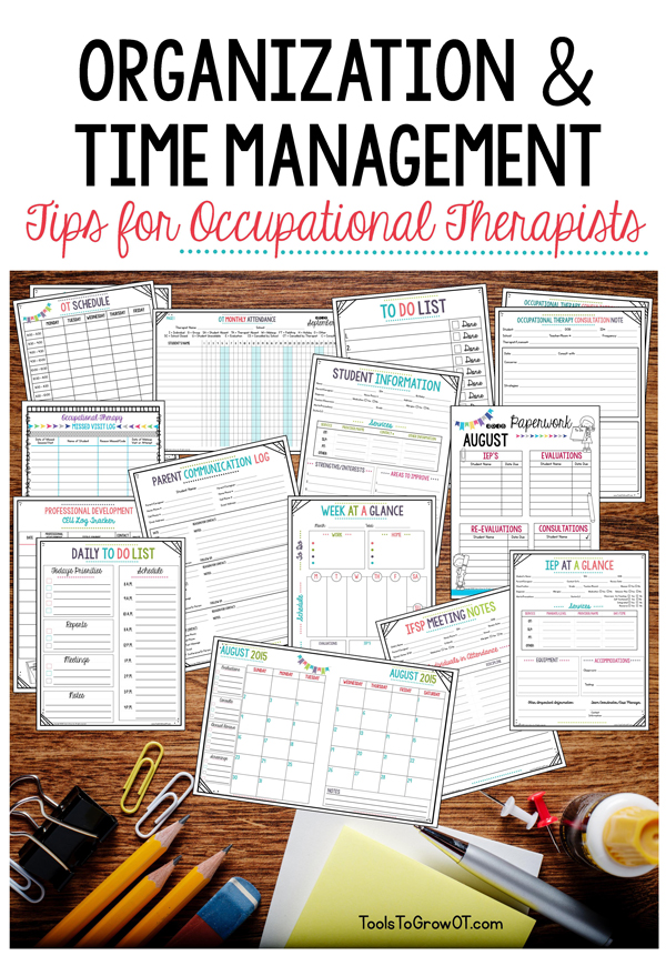 Organization and time management tips kindergarten