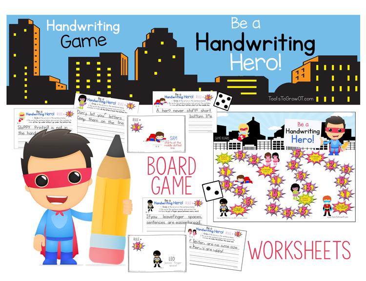 Handwriting Hero Board Game - Handwriting Game for Kids!