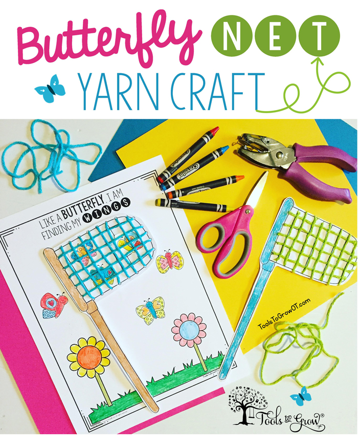 Butterfly Net Yarn Craft - A fun activity for children of all ages!