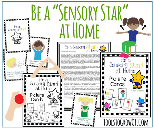 Sensory Star at Home Self-regulation and sensory diet strategies and interventions