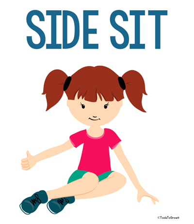 Side Sit Position - Copyright ToolsToGrowOT.com