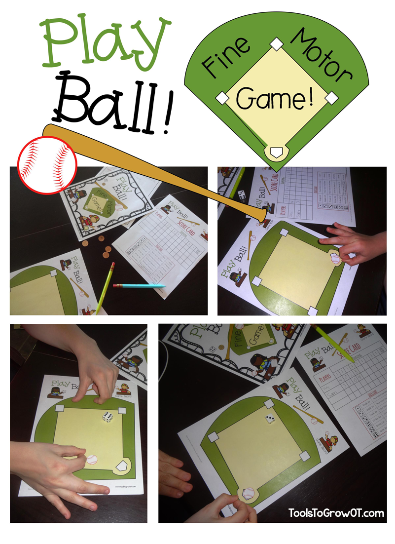 Play Ball! Fine Motor Game - Tools to Grow