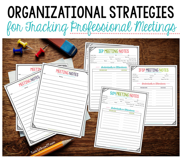 Organizational Strategies for Tracking Professional Meetings