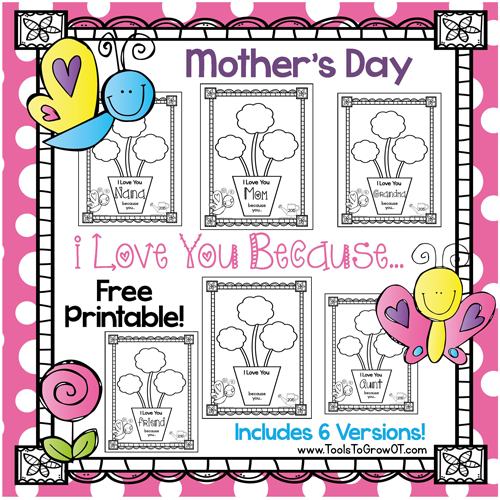 Mother's Day FREE Printable Activity