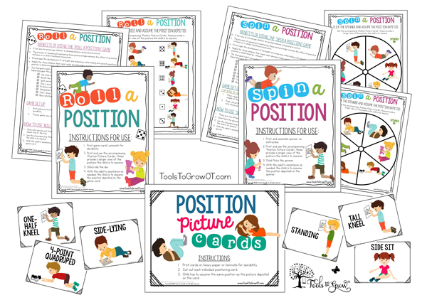 Reflex Position Intervention Resources and activities - Copyright ToolsToGrowOT.com