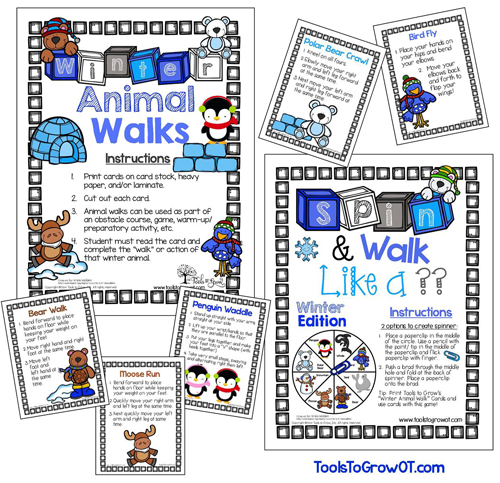 Winter Gross Motor Walks and Game - Tools to GrowOT