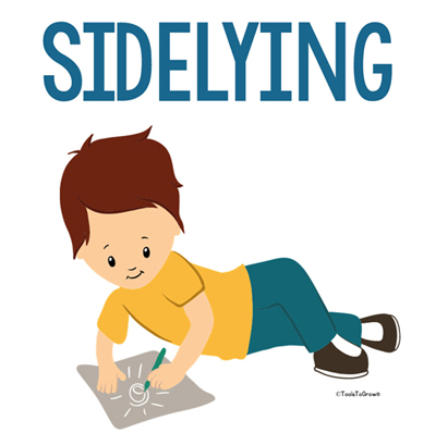 sidelying position - Copyright ToolsToGrowOT.com