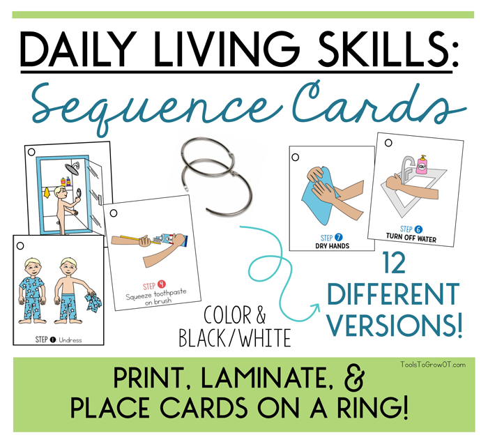 Daily Living Skills: Strategies to Help Sequence & Achieve