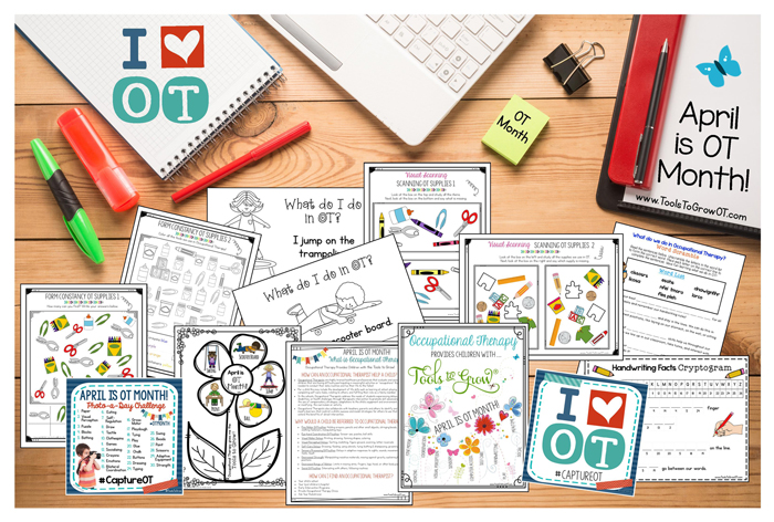 Tools to Grow OT Month Resources and FREE Printables