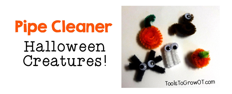 Halloween Pipe Cleaner Creatures - Tools to Grow