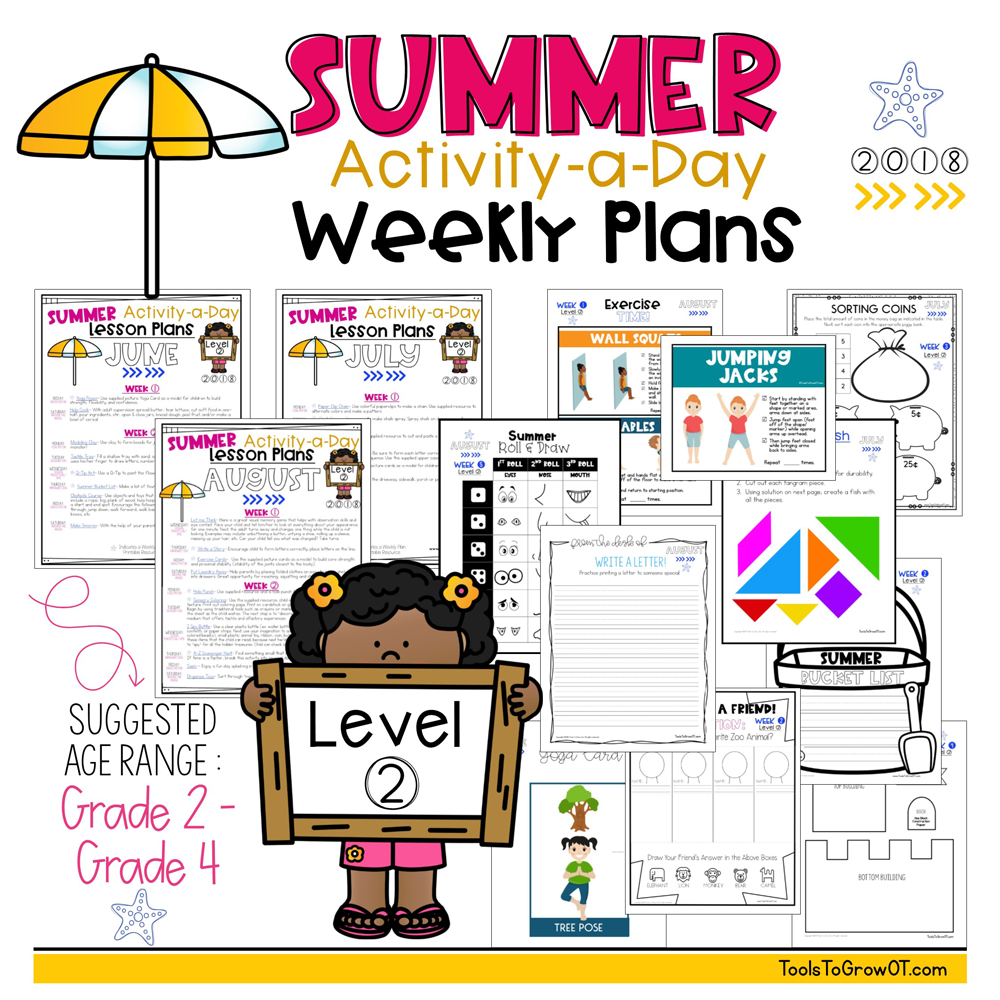 Summer FREE 2018 Calendar & Weekly Plans