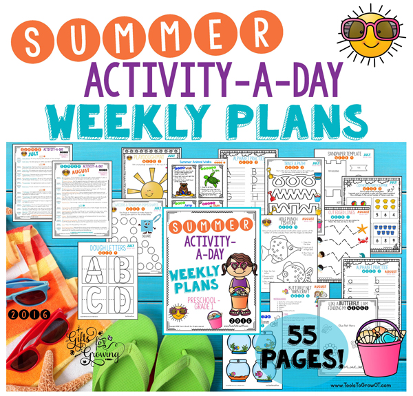Summer Activity a Day Weekly Plans & Activities for Kids