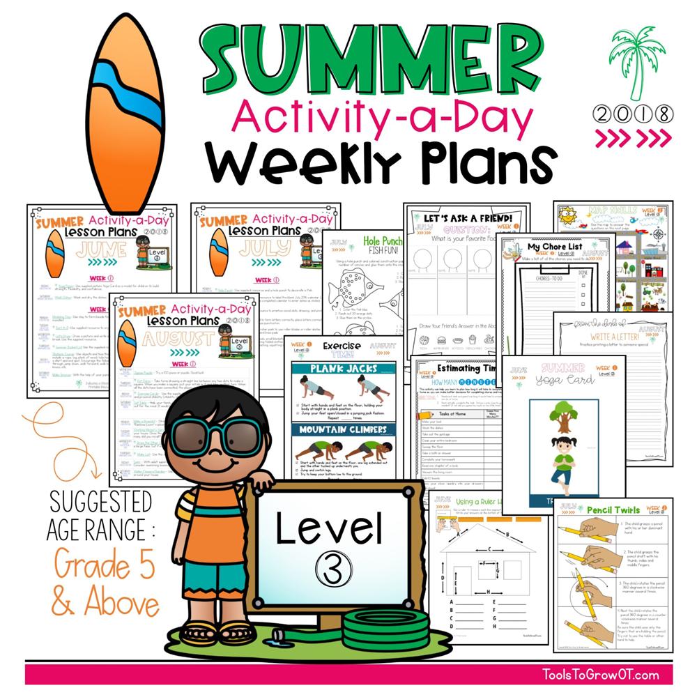 Summer FREE Activity a day Calendar