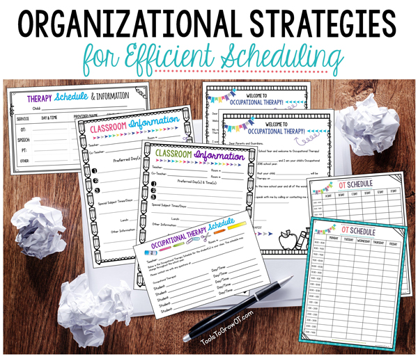 Organizational Strategies for Efficient Scheduling