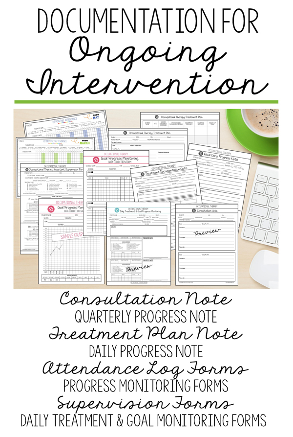 DOCUMENTATION FOR ONGOING INTERVENTION in Pediatric Occupational Therapy