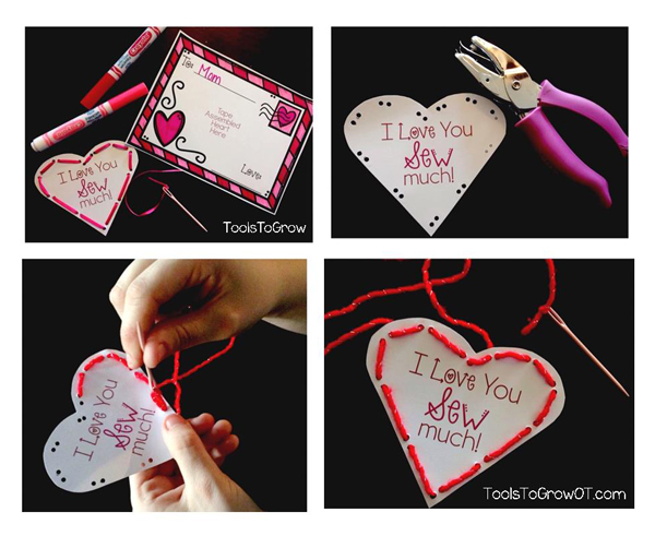 Valentine's Day Fine Motor Activity by Tools to Grow