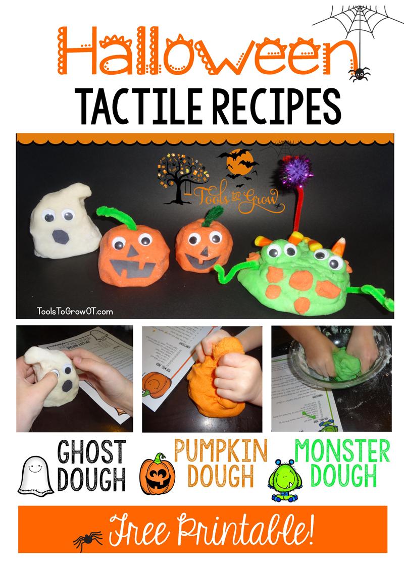 Free Tactile Sensory Halloween Recipes - Tools to Grow