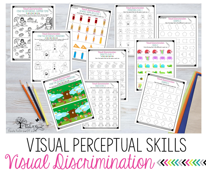 VISUAL PERCEPTION:Visual Discrimination activities, resources
