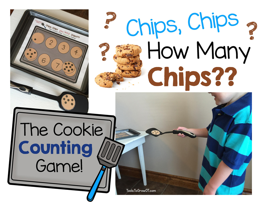 Movement and Learning Game - How Many Chips? Counting Game