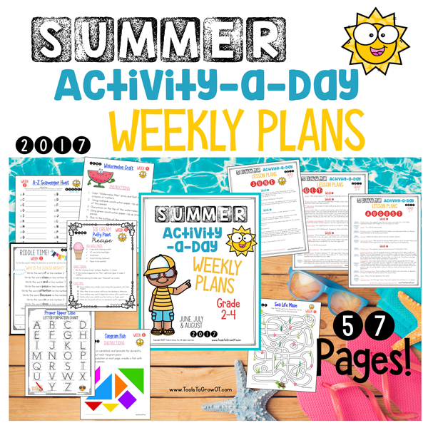 Summer - Activity a Day & FREE Calendars 2017
