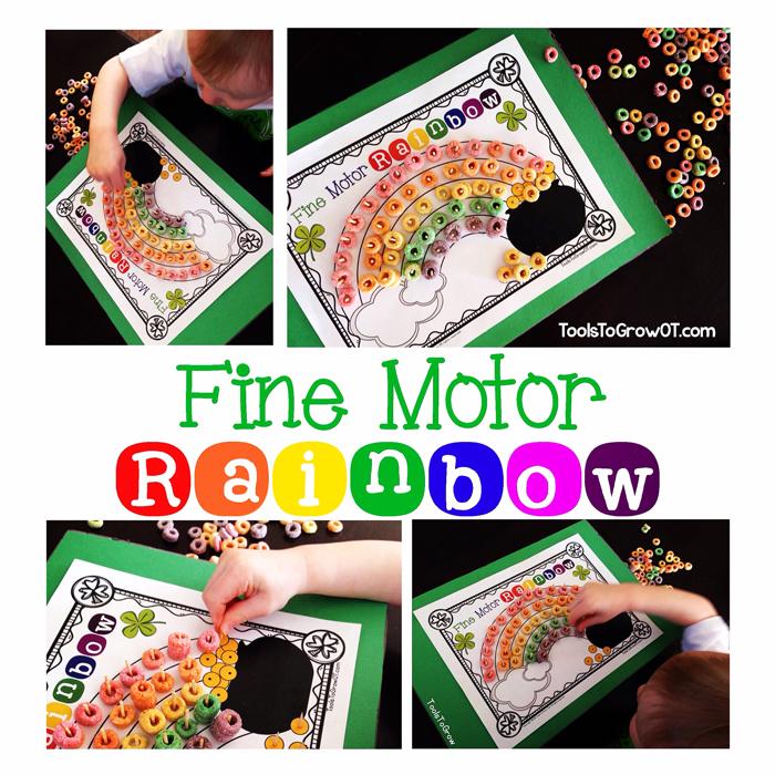 Fine Motor St. Patrick's Day Rainbow - Tools to Grow