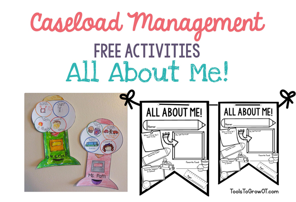 Caseload Management - Back to School All About Me Craftivities