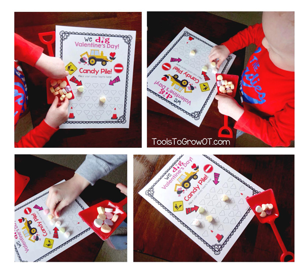 We DIG Valentine's Day - Fine Motor Game by Tools to Grow