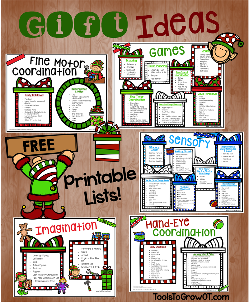 Gift Ideas FREE Printable Guide by Tools to Grow