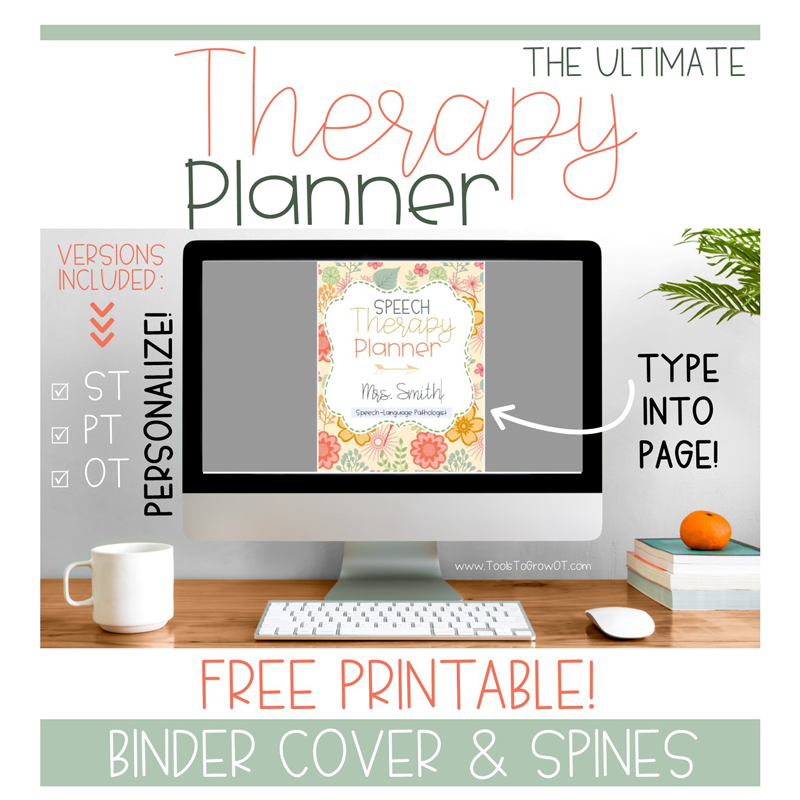 Therapy Planner - FREE Binder Cover Page