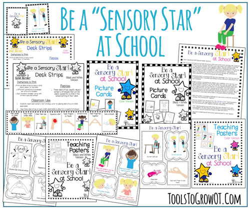 Sensory Star at School self-regulation and sensory diet strategies and interventions
