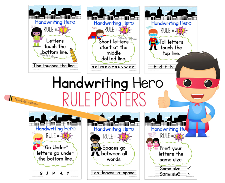 Be a Handwriting Hero! Tool to Address Handwriting Rules ...