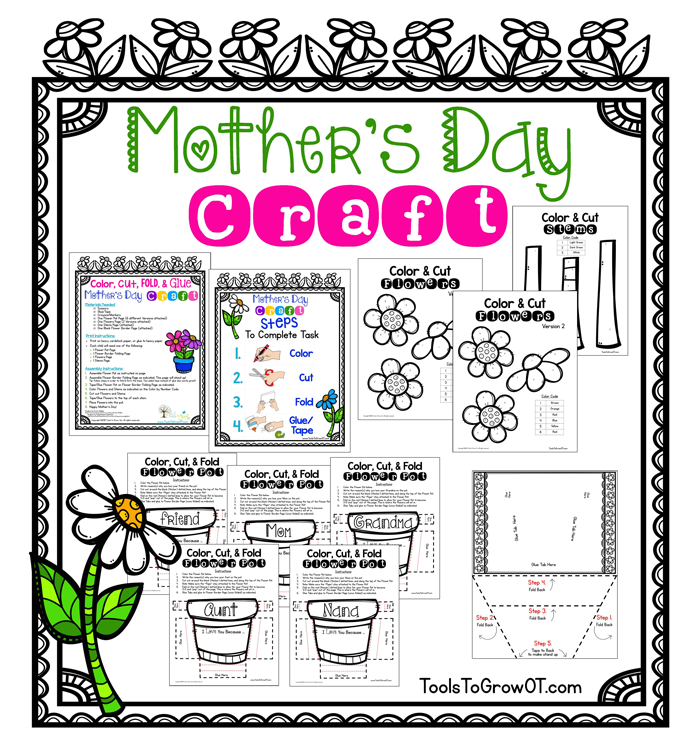 Mother's Day 3-D Flower Craft Activity