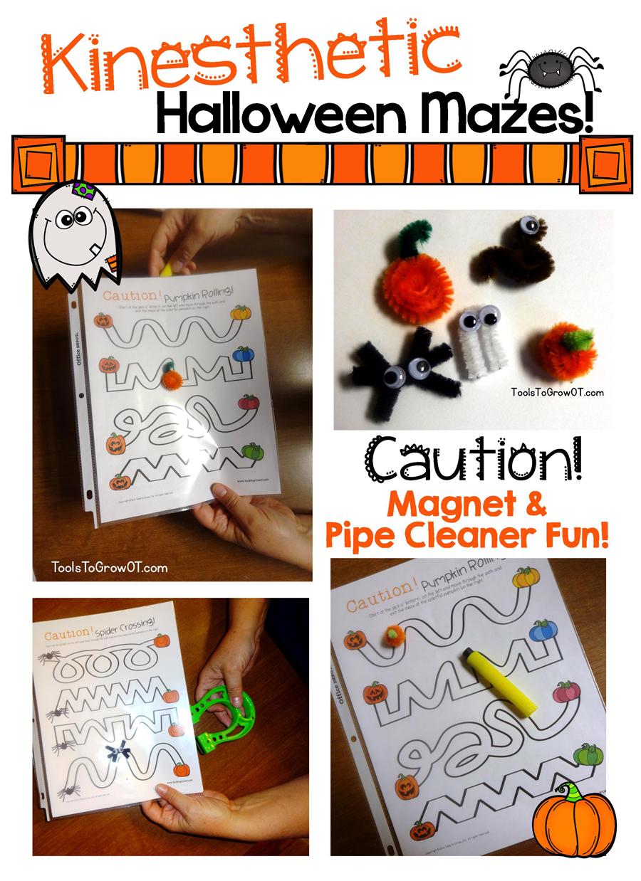 Kinesthetic Halloween Mazes-Tools to Grow