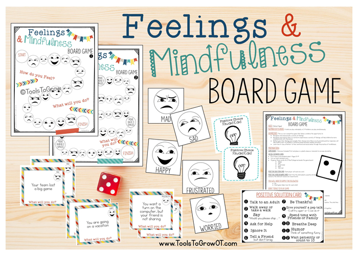 Feelings & Mindfulness Board Game