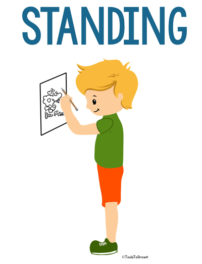 Standing Intervention Position - Copyright ToolsToGrowOT.com