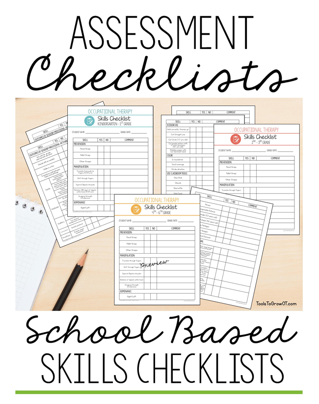 Occupational Therapy School Based Skills Checklist