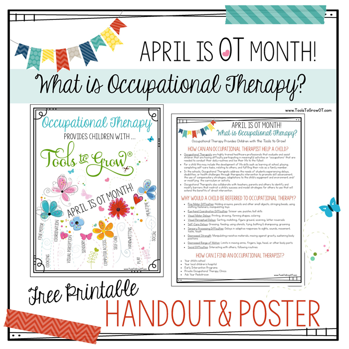 What is Occupational Therapy? FREE OT Month Poster & Handout