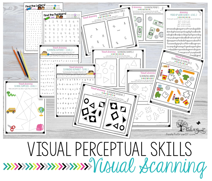 VISUAL PERCEPTION: Visual Scanning activities, ideas, and resources