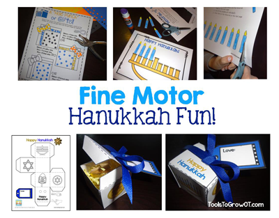 Fine Motor Hanukkah Activity and Crafts by Tools to Grow