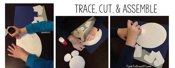 Fluffy Polar Bear - Tactile children's craft activity