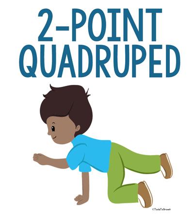 2-Point Quadruped Position - Copyright ToolsToGrowOT.com