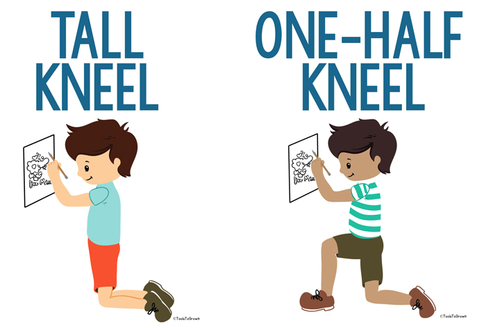 Tall Kneel and Half Kneel Position -Copyright ToolsToGrowOT.com