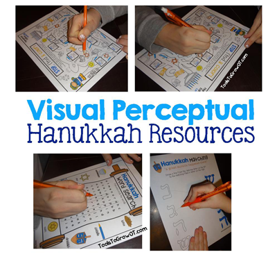 Hanukkah Visual Perceptual Activities by Tools to Grow